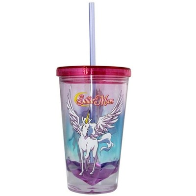 Just Funky Sailor Moon Pegasus Diamond Bottom 16oz Carnival Cup w/ Straw & Lid