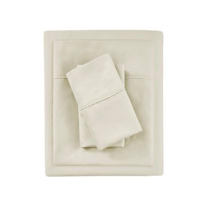 Queen 1000 Thread Count Solid Sheet Set Ivory - Beautyrest