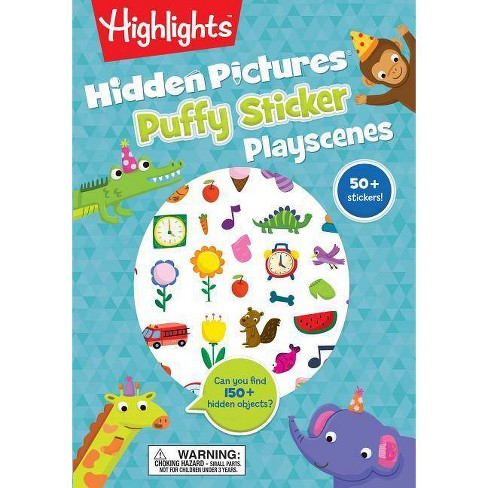 Hidden Pictures Puffy Sticker Playscenes -  (Paperback) - image 1 of 1