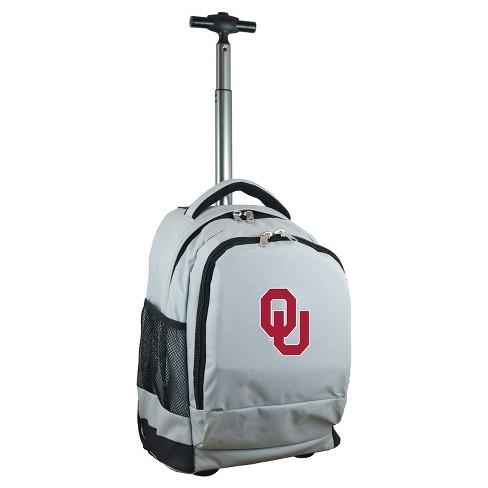 NCAA Oklahoma Sooners Gray Premium Wheeled Backpack - image 1 of 6