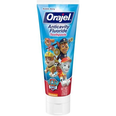 Orajel PAW Patrol Anti-cavity Fluoride Toothpaste Bubble Berry - 4.2oz - image 1 of 3