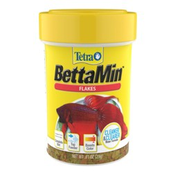 Tetra BettaMin Tropical Medley Flakes Cleaner & Clearer Water Formula 0.81oz