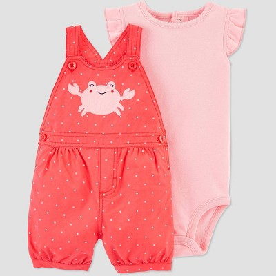 Baby Girls' 2pc Crab Top & Bottom Set - Just One You® made by carter's Pink 12M