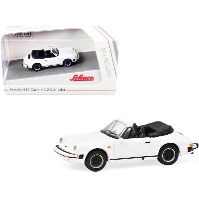 Porsche 911 Carrera 3.2 Cabriolet White 1/87 (HO) Diecast Model Car by Schuco