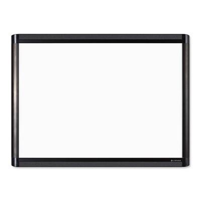 "U Brands 24""x18"" PINIT Magnetic Dry Erase Board Black Aluminum Frame"
