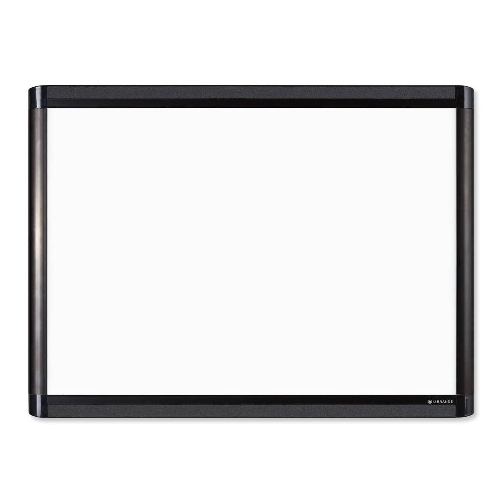 "Coupons U Brands 24""x18"" PINIT Magnetic Dry Erase Board Black Aluminum Frame"