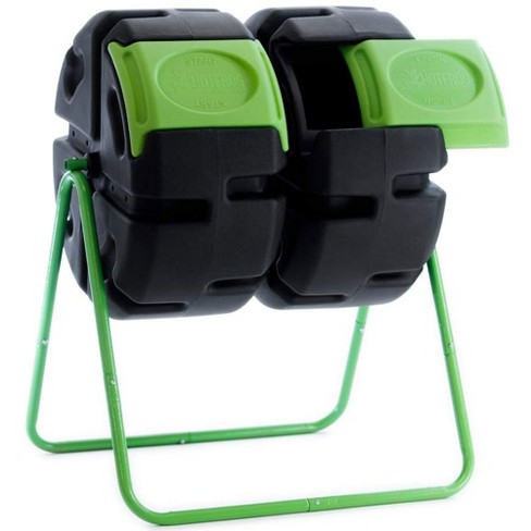 FCMP Outdoor HOTFROG 37 Gallon Plastic Dual Body Rotating Tumbling Composter Bin - image 1 of 4