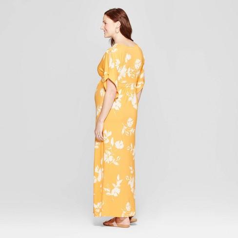 6fee15b408ae8 Maternity Floral Kimono Sleeve Maxi Dress - Isabel Maternity By Ingrid &  Isabel™ Yellow : Target
