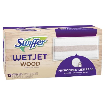 Swiffer WetJet Pad Refills Wood - 12ct
