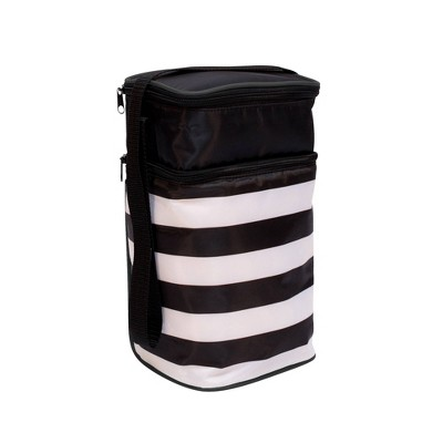 J.L. Childress Six Bottle Cooler - Black Stripe