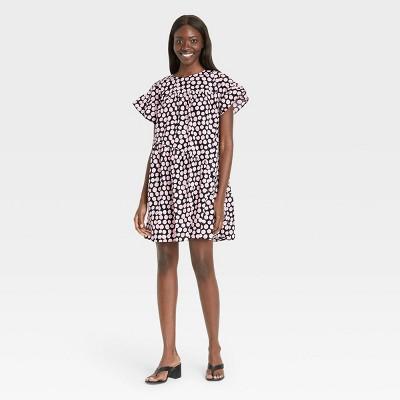 Women's Ruffle Short Sleeve Dress - Who What Wear™