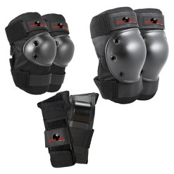 Eight Ball Youth Pad Set 3pk - Black