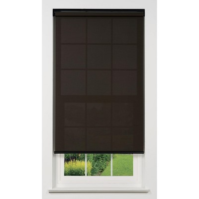 Linen Avenue Cordless 5% Solar Screen Standard Roller Shade, Shadow and Coffee