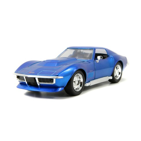 Jada Toys Big Time Muscle 1969 Corvette Stingray ZL-1 Die-Cast Vehicle 1:24 Scale Candy Blue - image 1 of 4