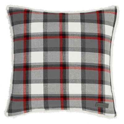 Wallace Plaid Throw Pillow Gray - Eddie Bauer