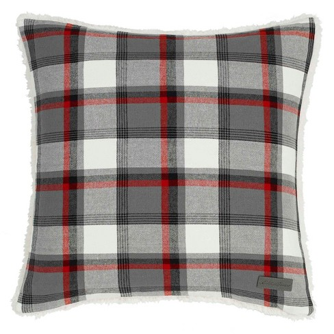Wallace Plaid Throw Pillow Gray - Eddie Bauer - image 1 of 3