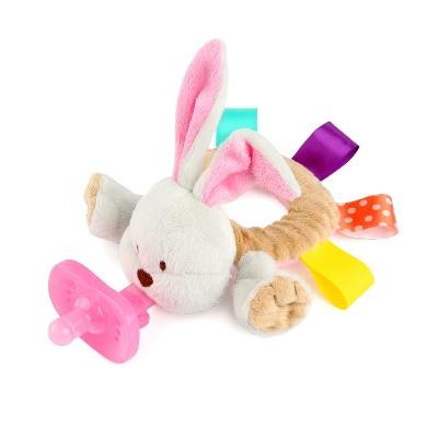 Bright Starts Taggies Cozy Coo Ring Pal Bunny - Gray