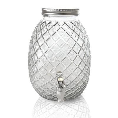 Gibson Home 1.2 Gallon Pineapple Clear Glass Beverage Dispenser