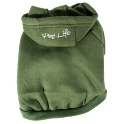 Fashion Plush Cotton Pet Hoodie Hooded Sweater - Green