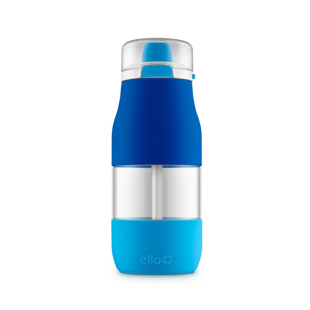 Image of 18oz Plastic Hue Tritan Water Bottle Blue - Ello