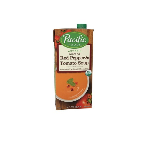 Pacific Foods Organic Creamy Roasted Red Pepper & Tomato Soup - 32oz - image 1 of 4