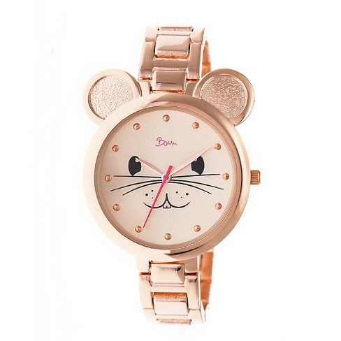 Boum Mignonne Ladies Mouse Accented Bracelet watch - Rose Gold - image 1 of 3