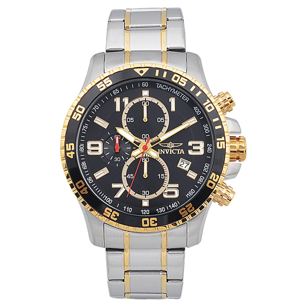 Men's Invicta 14876 Specialty Stainless Steel Quartz Link Watch - Two Tone, Multi-Colored