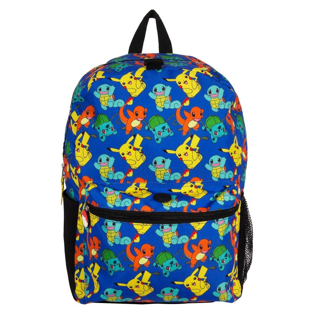 Pokemon All Over Print 16 Kids' Backpack, Black