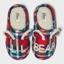 Toddler's dluxe by dearfoams Lil Bear Slide Slippers - Red