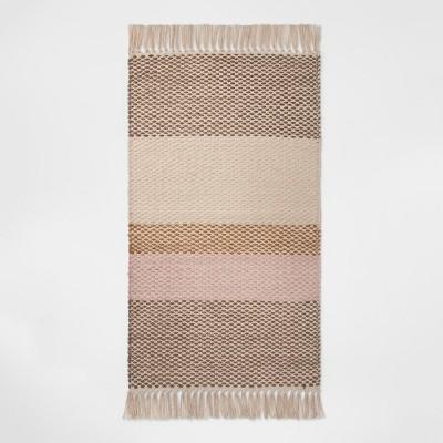 1'8 X2'10  Striped Woven Accent Rug Buff Beige - Room Essentials™