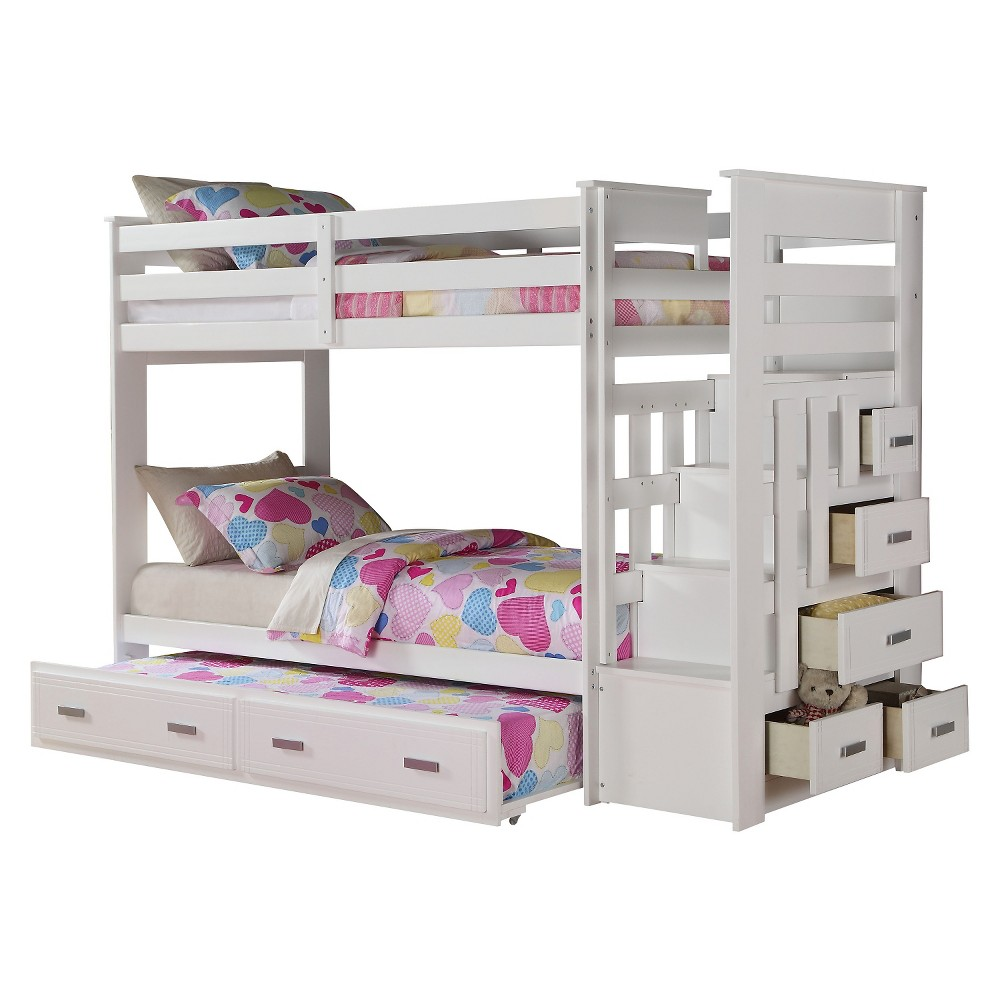Image of Allentown Kids Bunk Bed - White(Twin/Twin) - Acme