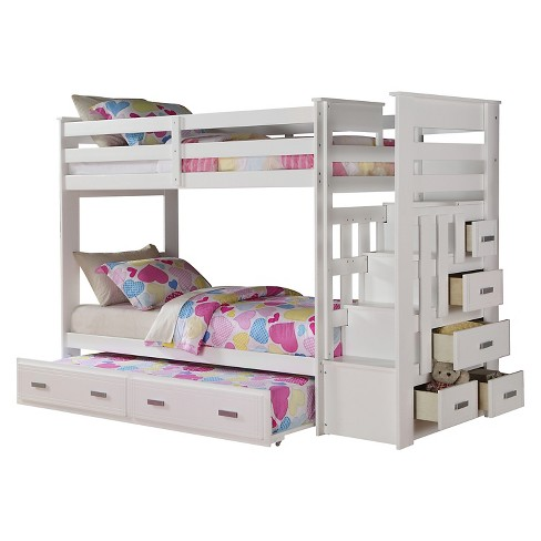 Allentown Kids Bunk Bed   White(Twin/Twin)   Acme : Target