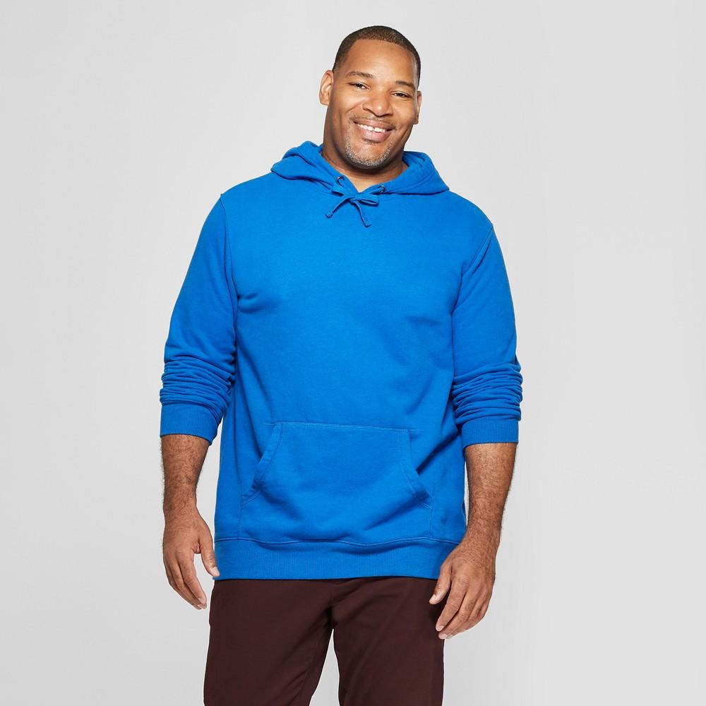 Men's Big & Tall Regular Fit Fleece Hooded Sweatshirt - Goodfellow & Co Kickball Blue 4XBT