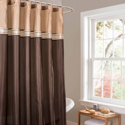 Terra Shower Curtain Beige/Brown - Lush Décor
