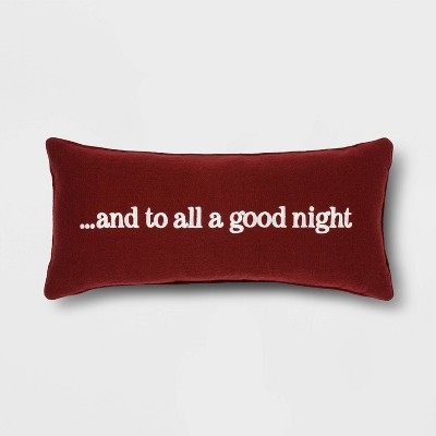 """Oblong Flannel """"To All a Good Night"""" Throw Pillow - Threshold™"""