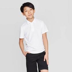 Cat /& Jack Boys Pique Uniform Polo Shirt White Size Medium 8//10