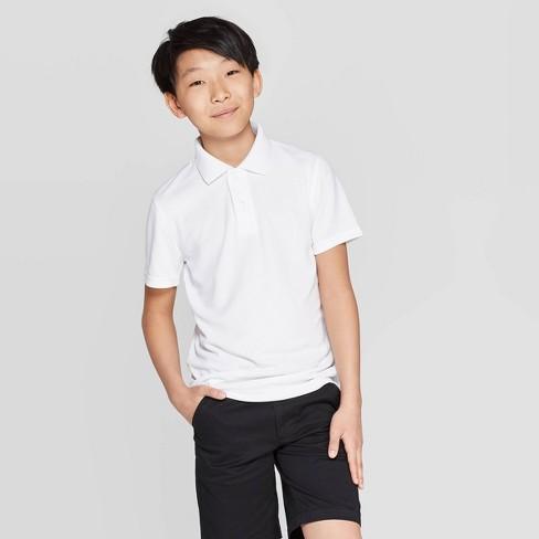 Boys' Short Sleeve Performance Uniform Polo Shirt - Cat & Jack™ - image 1 of 4