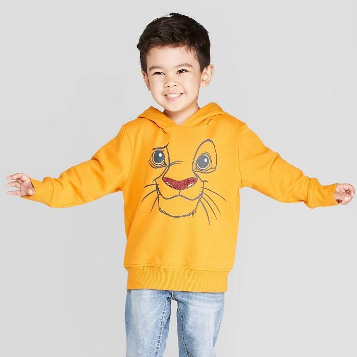 Toddler Boys' Disney The Lion King Simba Sweatshirt - Yellow - image 1 of 3