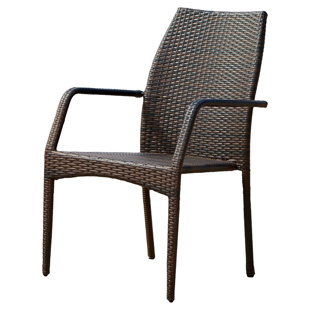 Best Price Canoga Set Of 2 Wicker Patio Chairs Multi Brown Christopher Knight Home