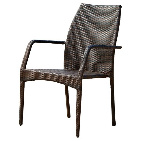 Canoga Set of 2 Wicker Patio Chairs - Multi Brown - Christopher Knight Home - image 1 of 4