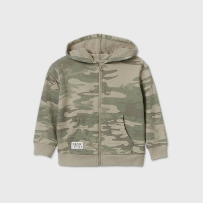 Toddler Boys' Camouflage Zip-Up Hoodie - art class™ Green