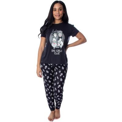 Disney Villains Women's Bad Girls Club 2 Piece Jogger Pajama Set
