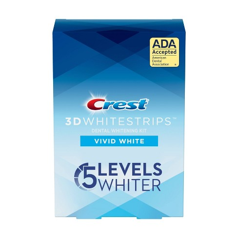 Crest 3d Whitestrips Vivid White Teeth Whitening Kit 12ct Target