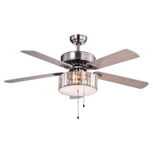 Warehouse Of Tiffany  X 15 Inch Brushed Nickel Lighted Ceiling Fans Target