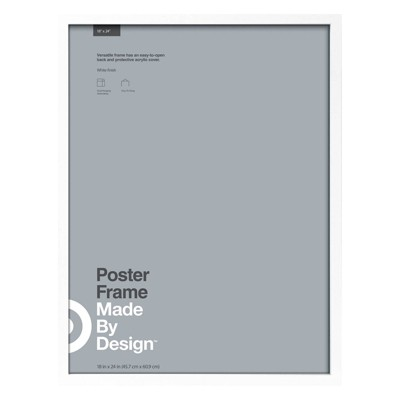 18  x 24  Poster Frame White - Made By Design™