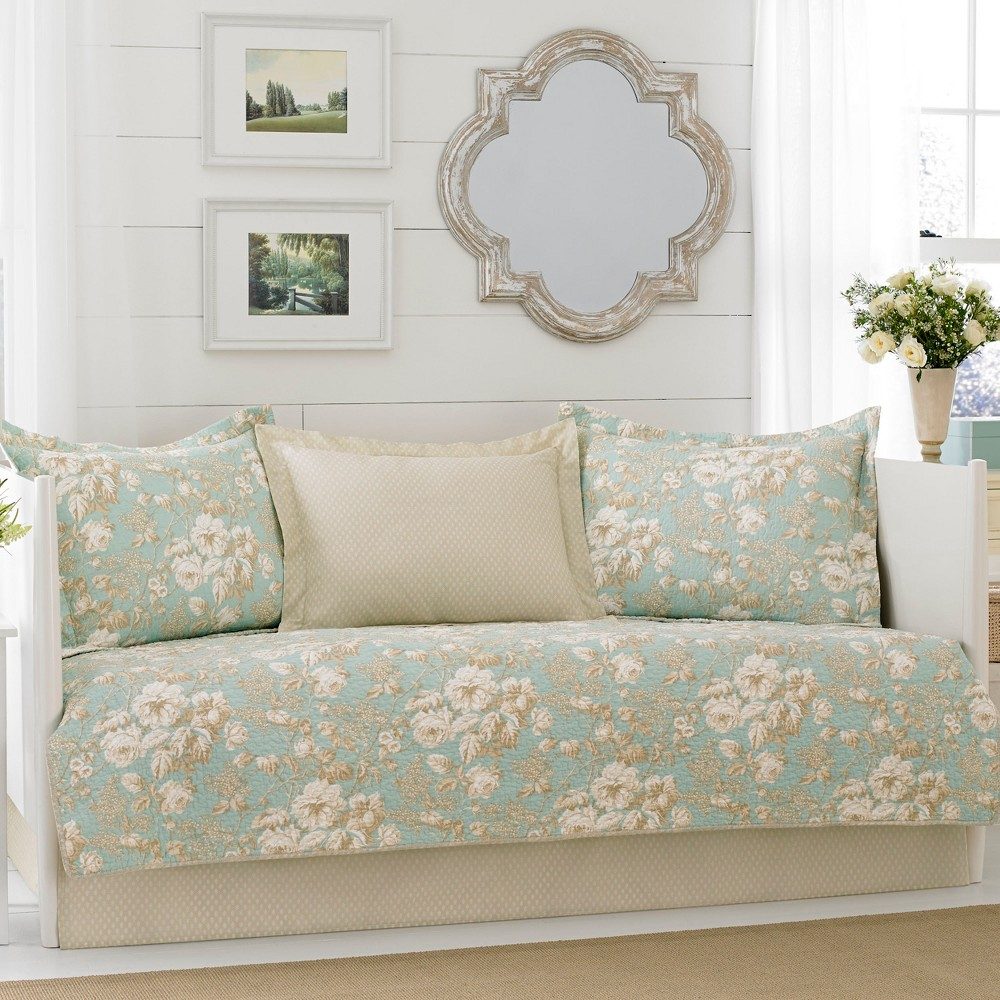 Image of Aqua (Blue) Brompton Daybed Set - Laura Ashley