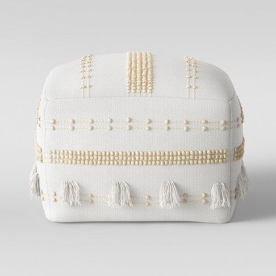Lory Pouf Textured White - Opalhouse™