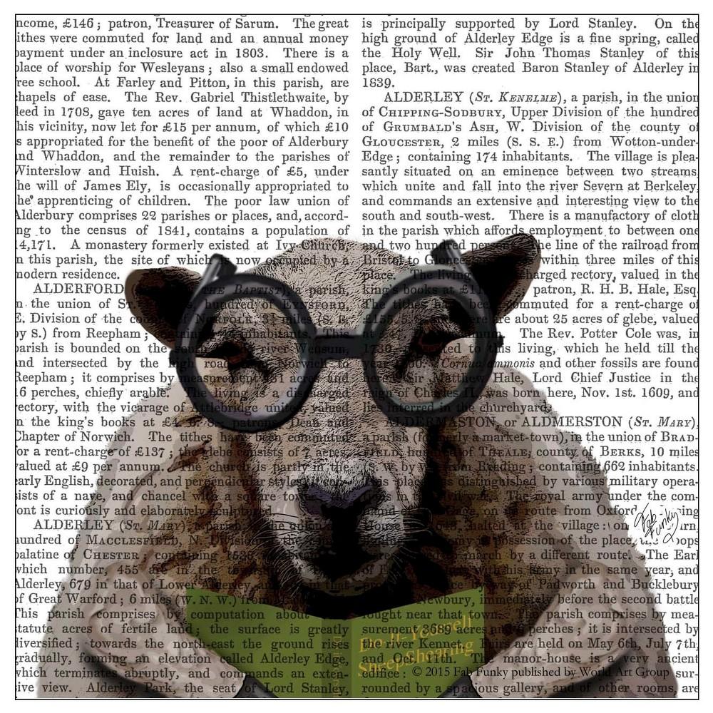 Thirstystone Animal Print Coasters Set of 4 - Intelligent Sheep, Multi-Colored