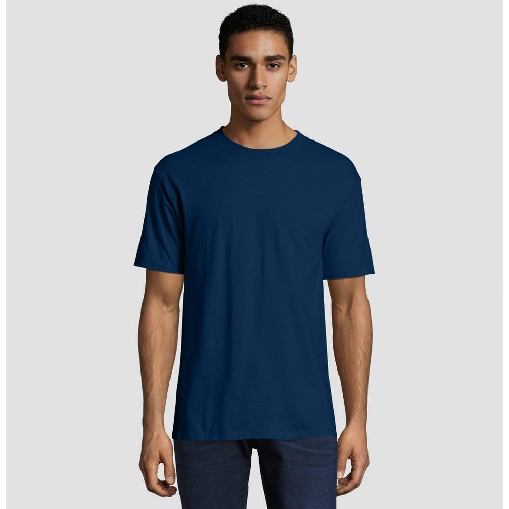 Hanes Men's Short Sleeve Beefy T-Shirt - Navy (Blue) XL