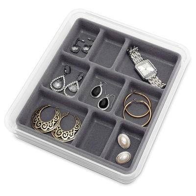 Jewelry Tray Gray Whitmor
